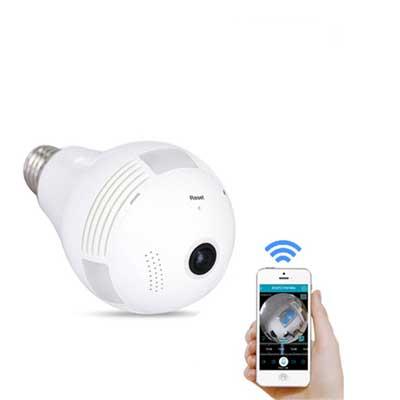 دوربین مخفی طرح لامپ تحت شبکه رم خور