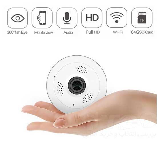 دوربین وایفای تصویر ۳۶۰ درجه بیسیم انتقال تصویر