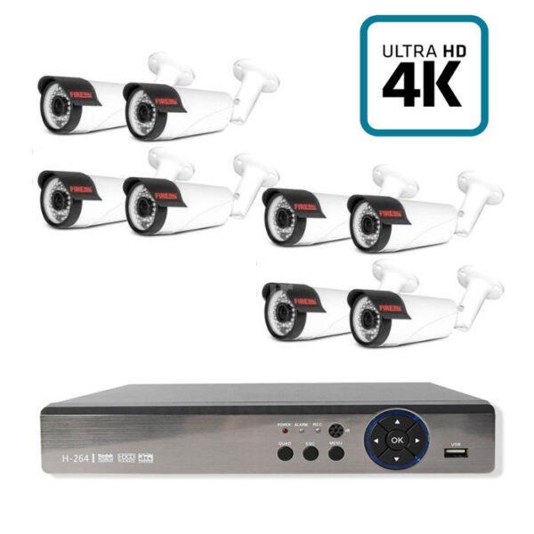 8 عدد دوربین با کیفیت با دستگاه